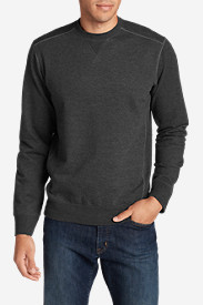 Fleece Shirts for Men: Men's Camp Fleece Crew Sweatshirt