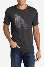 Men's Graphic T-Shirt - Howling Wolf