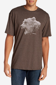 Casual T-Shirts for Men: Men's Graphic T-Shirt - Growling Bear