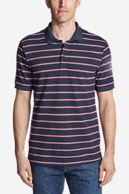 Men's Performance Piqué Striped Polo Shirt