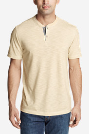Men's Ferox Short-Sleeve Henley Shirt - Textured