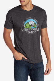 Polyester T-Shirts for Men: Men's Graphic T-Shirt - Mount Rainier Outfitters