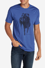 Blue Shirts for Men: Men's Graphic T-Shirt - Painted Lab