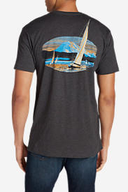 Casual T-Shirts for Men: Men's Graphic T-Shirt - Sailing Adventures