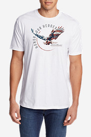 Men's Graphic T-Shirt - Honor Our Heroes Eagle