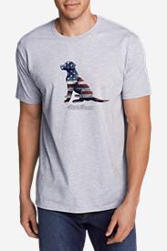 Men's Graphic T-Shirt - Sitting Dog Flag