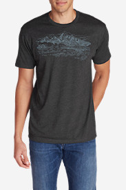 Men's Graphic T-Shirt - Sketched Tetons