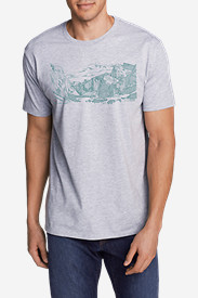 Men's Graphic T-Shirt - Sketched Yosemite