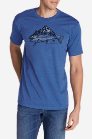 Men's Graphic T-Shirt - Trout Mountain Stream