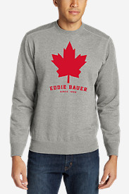 Men's Camp Fleece Crew - Maple Leaf Graphic