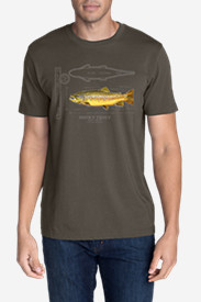 Men's Graphic T-Shirt - Brown Trout