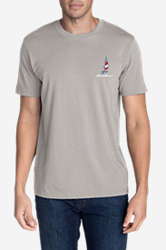 Men's Graphic T-Shirt - Patriotic Boats