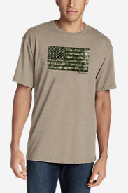 Men's Graphic T-Shirt - Camo Flag