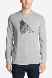 Men's Graphic Thermal Crew - Howling Wolf