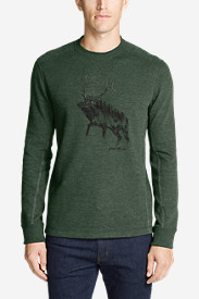 Men's Graphic Thermal Crew - Elk Forest