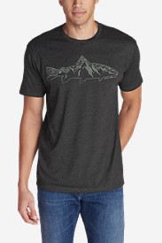 Men's Graphic T-Shirt - Mountain Fish