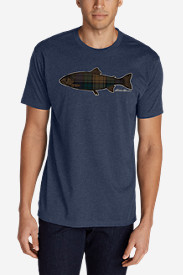 Men's Graphic T-Shirt - Plaid Fish