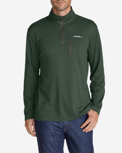 Green Shirts for Men: Men's Voyager II 1/4-Zip Pullover