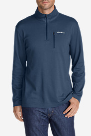 Blue Shirts for Men: Men's Voyager II 1/4-Zip Pullover