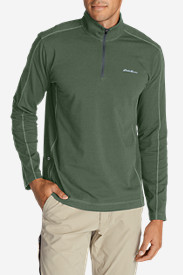 Spandex Shirts for Men: Men's Lookout 1/4-Zip Mockneck