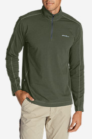 Blue T-Shirts for Men: Men's Lookout 1/4-Zip Mockneck