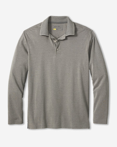 Big & Tall Shirts for Men: Men's Voyager II Performance Long-Sleeve Polo Shirt - Solid