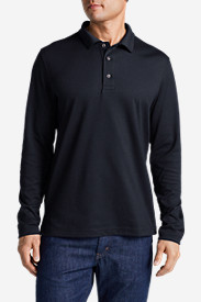 Blue Shirts for Men: Men's Voyager II Performance Long-Sleeve Polo Shirt - Solid