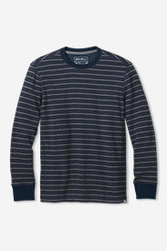 Men's Eddie's Signature Thermal Crew Shirt - Stripe
