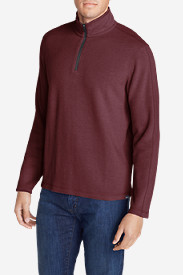 Blue Shirts for Men: Men's Kachess 1/4-Zip Mock Shirt