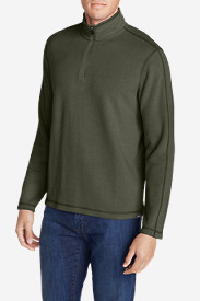 Green Jackets for Men: Men's Kachess 1/4-Zip Mock Pullover