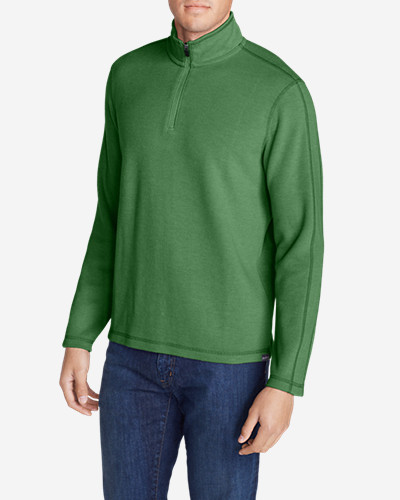 Green Shirts for Men: Men's Kachess 1/4-Zip Mock Shirt
