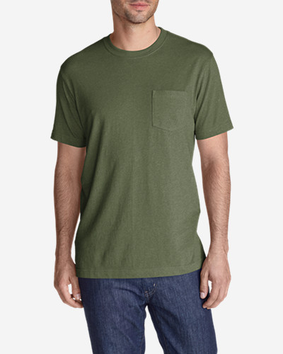 Green Shirts for Men: Men's Legend Wash Short-Sleeve Pocket T-Shirt - Classic Fit
