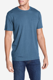 Blue Shirts for Men: Men's Legend Wash Short-Sleeve Pocket T-Shirt - Classic Fit
