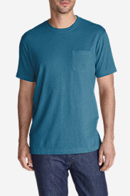 Blue T-Shirts for Men: Men's Legend Wash Short-Sleeve Pocket T-Shirt - Classic Fit
