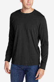 Black Shirts for Men: Men's Legend Wash Long-Sleeve T-Shirt - Classic Fit