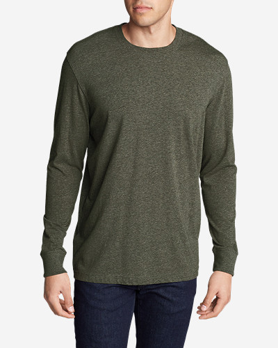 Green Shirts for Men: Men's Legend Wash Long-Sleeve T-Shirt - Classic Fit