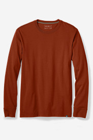 Red Big & Tall Tshirts for Men: Men's Legend Wash Long-Sleeve T-Shirt - Classic Fit