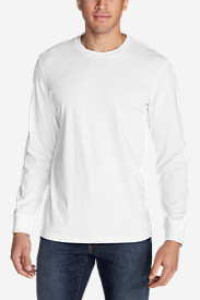 White Big & Tall Tshirts for Men: Men's Legend Wash Long-Sleeve T-Shirt - Classic Fit