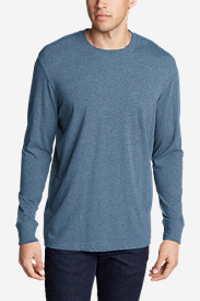 Blue T-Shirts for Men: Men's Legend Wash Long-Sleeve T-Shirt - Classic Fit