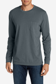 Casual T-Shirts for Men: Men's Legend Wash Long-Sleeve Pocket T-Shirt - Classic Fit