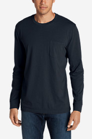 Blue T-Shirts for Men: Men's Legend Wash Long-Sleeve Pocket T-Shirt - Classic Fit