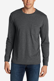 Long Sleeve T-Shirts for Men: Men's Legend Wash Long-Sleeve Pocket T-Shirt - Classic Fit