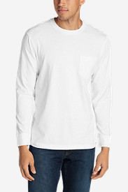 White Big & Tall Tshirts for Men: Men's Legend Wash Long-Sleeve Pocket T-Shirt - Classic Fit