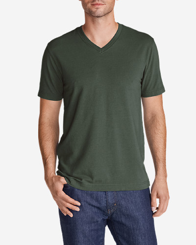 Green Shirts for Men: Men's Lookout Short-Sleeve V-Neck T-Shirt