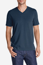 Blue Shirts for Men: Men's Lookout Short-Sleeve V-Neck T-Shirt