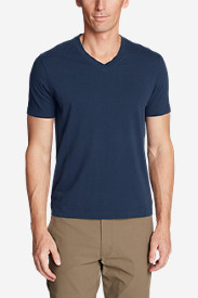 Blue T-Shirts for Men: Men's Lookout Short-Sleeve V-Neck T-Shirt