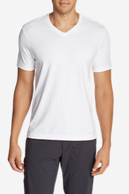 White Big & Tall Tshirts for Men: Men's Lookout Short-Sleeve V-Neck T-Shirt