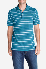 Blue Shirts for Men: Men's Voyager II Performance Short-Sleeve Polo Shirt - Stripe