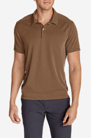 Brown Polo Shirts for Men: Men's Contour Performance Slub Polo Shirt