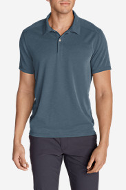 Blue Shirts for Men: Men's Contour Performance Slub Polo Shirt